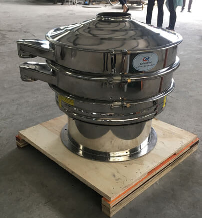 Stainless steel vibrating sieve and screw conveyor_Vibrating