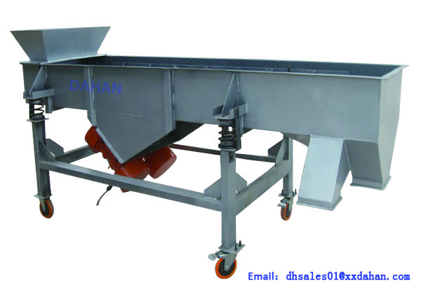Mobile linear vibrating sieve