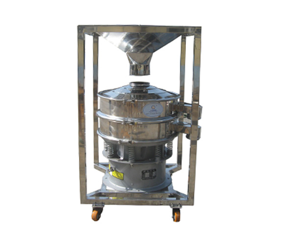 Mobile silo vibration sieve