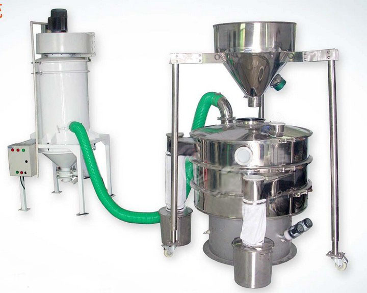 Vibrating sieve with dust remov